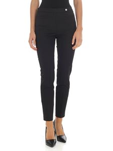 Alberto Biani  - Black trousers with welt pockets