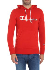 Paolo Pecora - Red wool sweatshirt with logo inlay