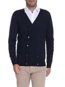 Paolo Pecora - Blue double-breasted cardigan