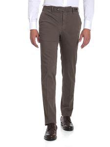 PT01 - Brown stretch cotton trousers