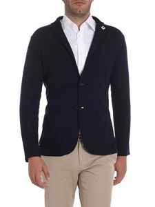 Lardini - Blue jacket with two buttons