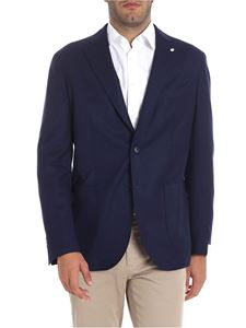 L.B.M. 1911 - Blue wool two-button jacket