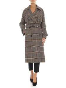 Tagliatore - Beige and black Prince of Wales trench coat