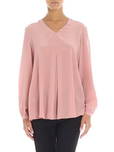 Barba - Pink blouse with pleat
