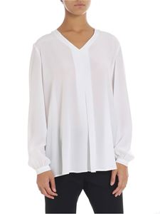 Barba - White blouse with pleat