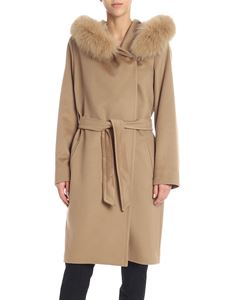 "Max Mara Studio - ""3Mango"" camel-color coat"