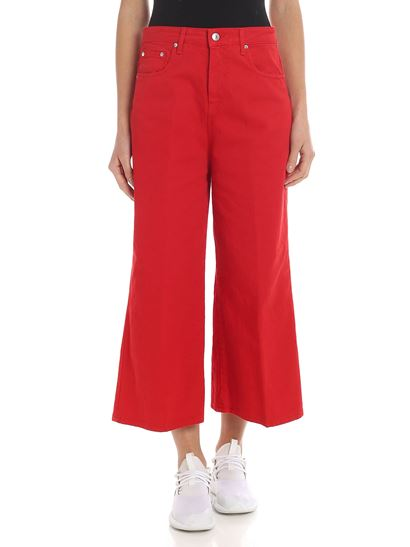 MSGM - Red palazzo trousers