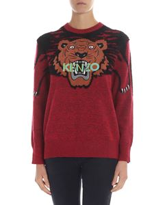 "Kenzo - ""Claw Tiger"" red pullover"