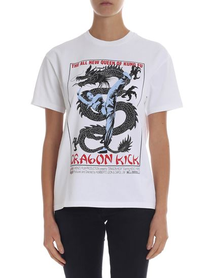 Kenzo - Dragon printed white t-shirt