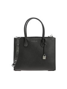 "Michael Kors - ""Mercer"" black large shoulder bag"