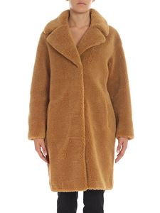 "Stand Official - ""Camille Cocon"" beige eco-fur coat"