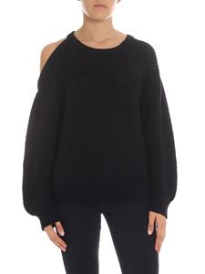 Iro - Asymmetric black tricot sweater