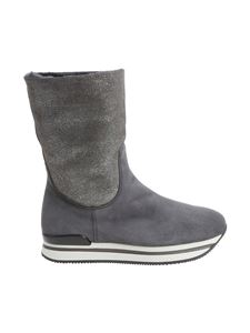 Hogan - Grey suede ankle boots