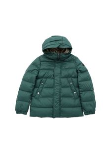 "Peuterey - Green ""Dutel"" down jacket with eco-fur insert"