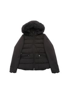 """Peuterey - """"Turmalet"""" black down jacket with eco-fur"""