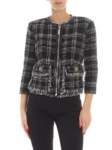 Elisabetta Franchi - Black and white check printed jacket