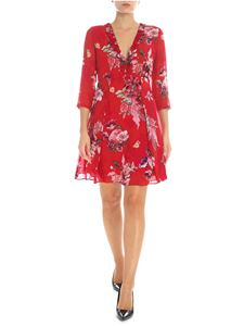 Twin-Set - Red floral printed dress
