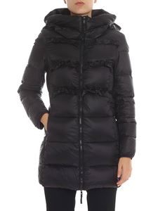Twin-Set - Black down jacket with ruffles