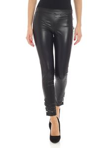 Twin-Set - Leggings nero in eco-pelle
