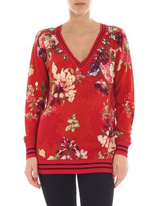 Twin-Set - Red floral printed pullover