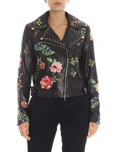 Twin-Set - Embroidered eco-leather jacket