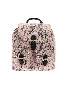Twin-Set - Black and pink lace backpack