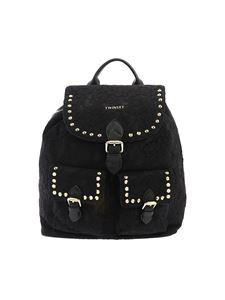 Twin-Set - Black lace backpack