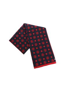 Tommy Hilfiger - Blue and red monogram scarf