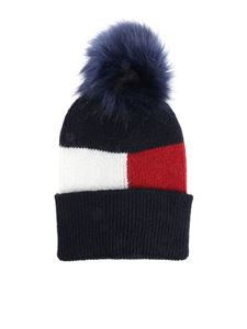 Tommy Hilfiger - Blue beanie with lamé insert
