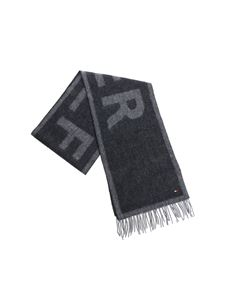 Tommy Hilfiger - Scarf in shades of gray with logo