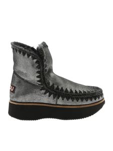 """Mou - """"Running Eskimo 18"""" grey ankle boots"""