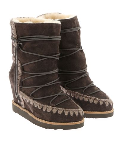 """Mou - """"French Toe Eskimo Lace-up"""" ankle boots"""