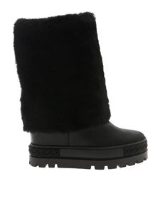 Casadei - Black leather double boots