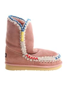 """Mou - """"Eskimo 24"""" pink ankle boots"""