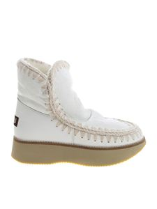 """Mou - """"Running Eskimo 18"""" white ankle boots"""