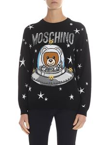 "Moschino - ""Ufo Teddy"" inlay black pullover"