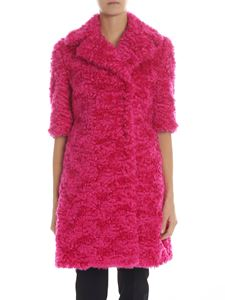 Moschino - Fuchsia eco-fur coat