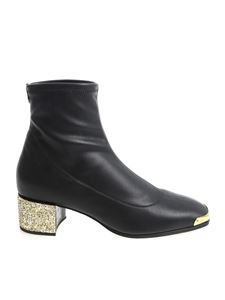Giuseppe Zanotti - Black ankle boots with glitter heel