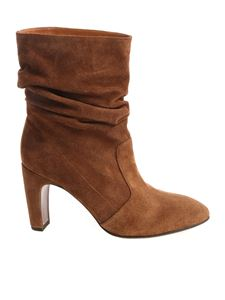 Chie Mihara - Brown ankle boots with folded effect