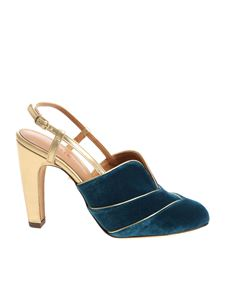 Chie Mihara - Teal blue-color velvet shoes