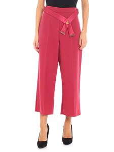 Elisabetta Franchi - Raspberry-colored palazzo trousers