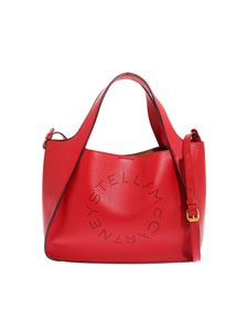 "Stella McCartney - Red ""Tote"" bag with logo"