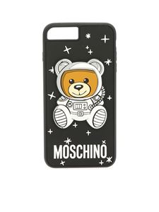 """Moschino - Black """"Ufo Teddy"""" cover for i-Phone 8-8 plus"""