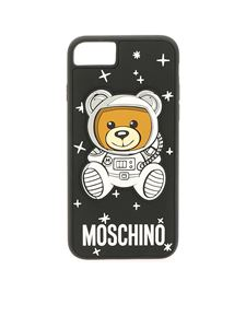 "Moschino - Cover ""Ufo Teddy"" nera per i-Phone 6s-7-8"