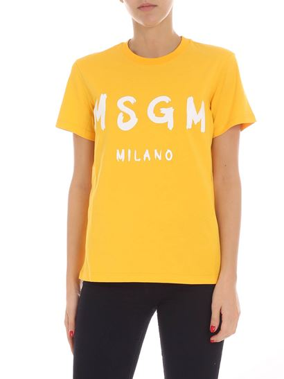 MSGM - Yellow t-shirt with logo