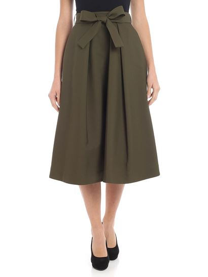 MSGM - Green flared skirt with bow