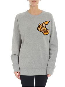 Vivienne Westwood Anglomania - Melange grey sweatshirt with patch logo