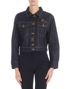 Vivienne Westwood Anglomania - Blue denim jacket with logo
