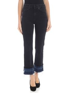 7 For All Mankind - Jeans crop bootcut nero