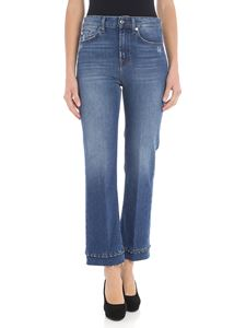 7 For All Mankind - Jeans crop bootcut blu